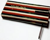 1910 Antique 4th of July Noisemaker - Vintage Wooden & Paper Toy -B6