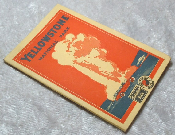 Reserved for SunflowerBean - Yellowstone National  Park Northern Pacific Railroad Burlington Route Guide - Vintage 1924