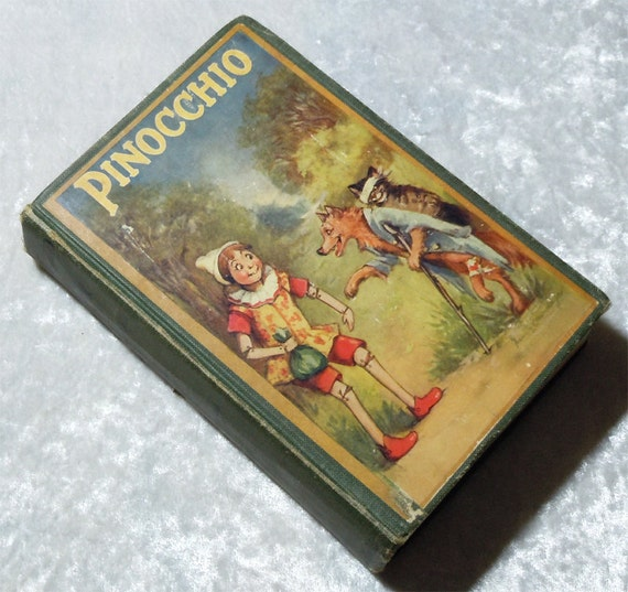 Vintage Pinocchio by D. Collodi c1920s - Illustrated by Frances Brundage - Hardcover Book