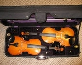 Twin Violins in a Case