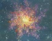 original 8x10 galaxy acrylic painting