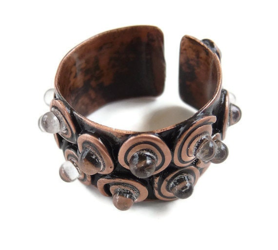 Wide ring / Copper glass ring