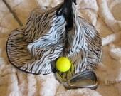White Tiger - Modern Circular Golf Towel