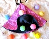 Hot Pink Polka Dots - Modern Circular Golf Towel