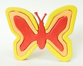 Yellow Butterfly Puzzle - Butterfly Decoration - Kids Decor