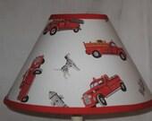 Firetruck Fabric Lamp Shade