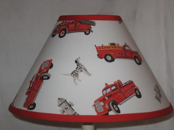 Firetruck Children S Fabric Lamp Shade Children S Gift