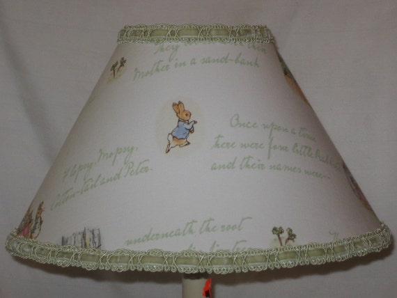 Items Similar To Peter Rabbit Lamp Shade M2m Pottery Barn
