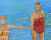 """Test the Waters  24""""x18""""x1.5""""  Original Signed Canvas"""
