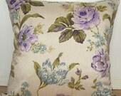 Fleur Cushion- Aubergine