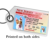 New Jersey Driver License Pet ID Tag