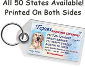 Texas Drivers License Pet ID Tag