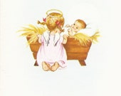 C238 Vintage Christmas Greeting Card by Norcross Angel by Jesus