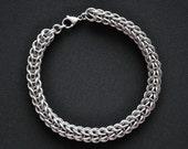 Men's Stainless Steel Bracelet, Full Persian Chainmail