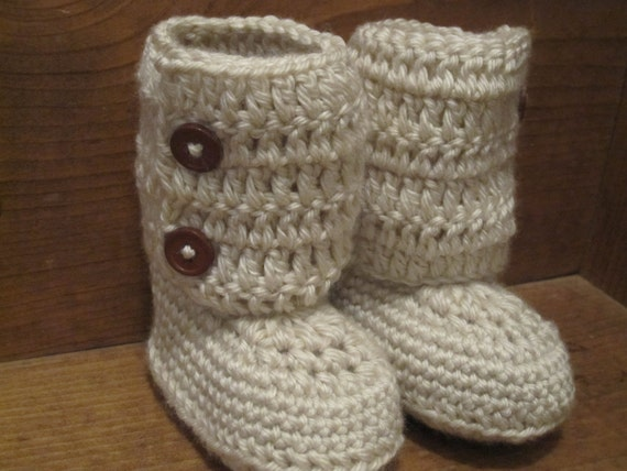 Baby Ankle Boots -Crochet Baby Booties