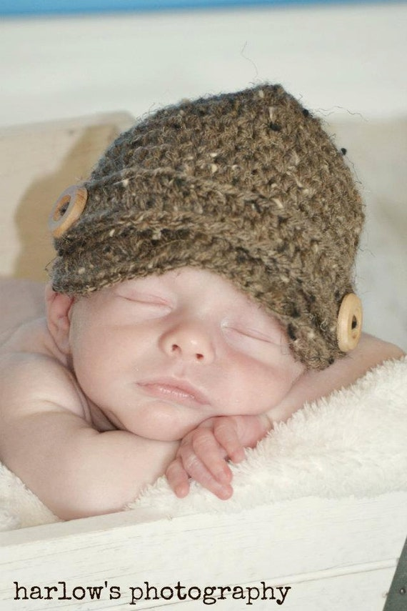 Boy Newsboy Hat - Photo Prop-Choose Colors and Size