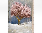 Cherry Tree - Mounted on bamboo panel