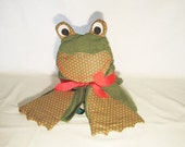Kids Hooded Frog Bath Towel FREE Monogramming