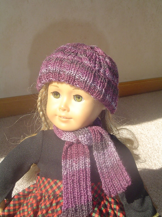 "18"" doll, American Girl- Hat and Scarf Set"