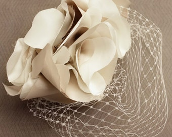 Miranda Lambert-inspired Blusher Birdcage Veil