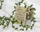 """Green Leaf Trim...5/8"""" X 3 yards"""