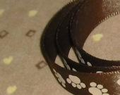 "Paw Print Ribbon...5/8"" X 10 yards"