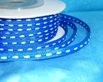 "Royal Blue/ Thin Ribbon Spool / July 4th / 1/8"" X 25 yards"