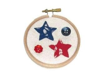 Americana Red and Blue Stars Hoop