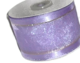 """Clearance...Orchid Wire Ribbon...2 1/2"""" X 25 yard spool"""