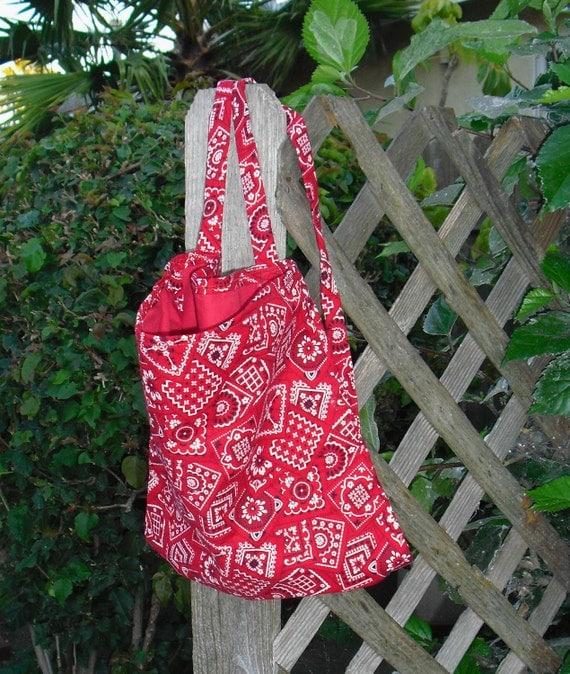 Red Western Bandana Print Backpack for Teen or Adult