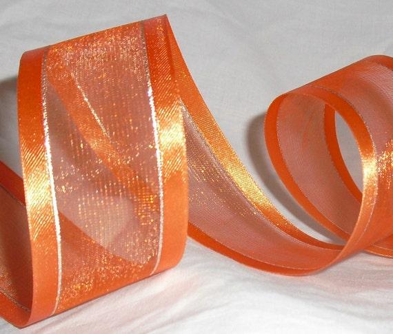 "Destash Orange Ribbon...1.1/2"" X 8 yards"