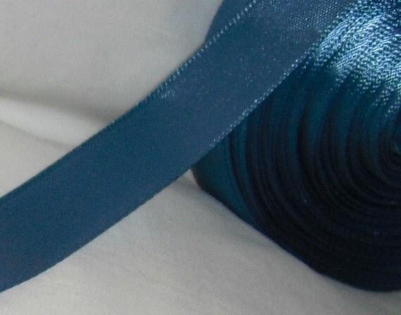 """Smoke Blue Ribbon...5/8"""" X 20 yards"""