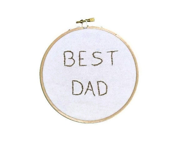 BEST DAD Handstitched Hoop