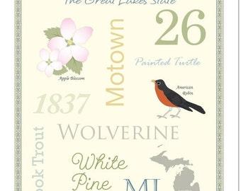 "Michigan State Pride Series 11x14"" Poster"