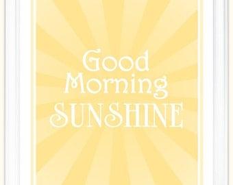 "Good Morning Sunshine 8x10"" Print"
