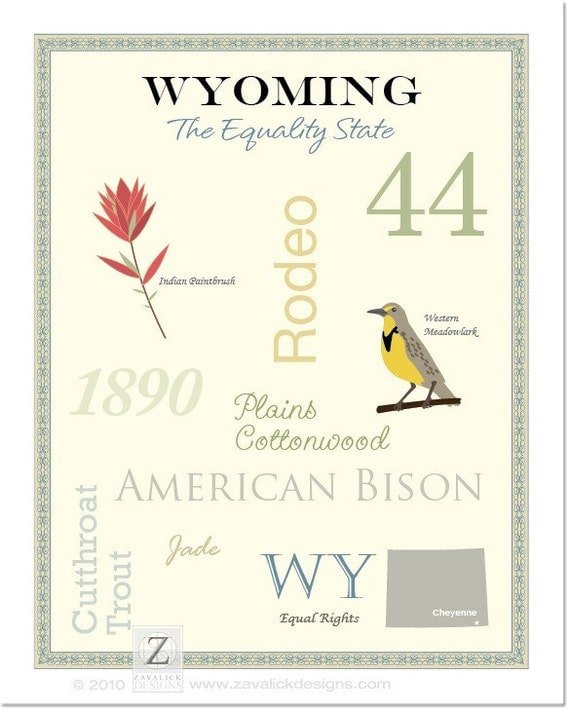"Wyoming State Pride Series 11x14"" Poster"