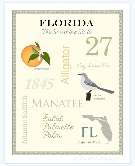 "Florida State Pride Series 11x14"" Poster"