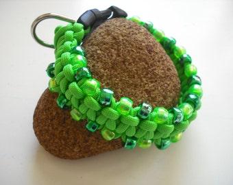 Green Designer Dog Collar braided xs dog collar