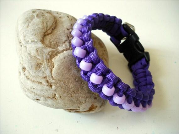 Tiny Dog Collar, Dog Jewelry, Beaded Purple Dog Collar