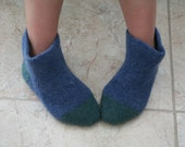 Hand Knit Felted Slippers