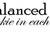 A Balanced Diet is a cookie in each hand -  Vinyl Decal Wall Decal Wall Art Home Decor