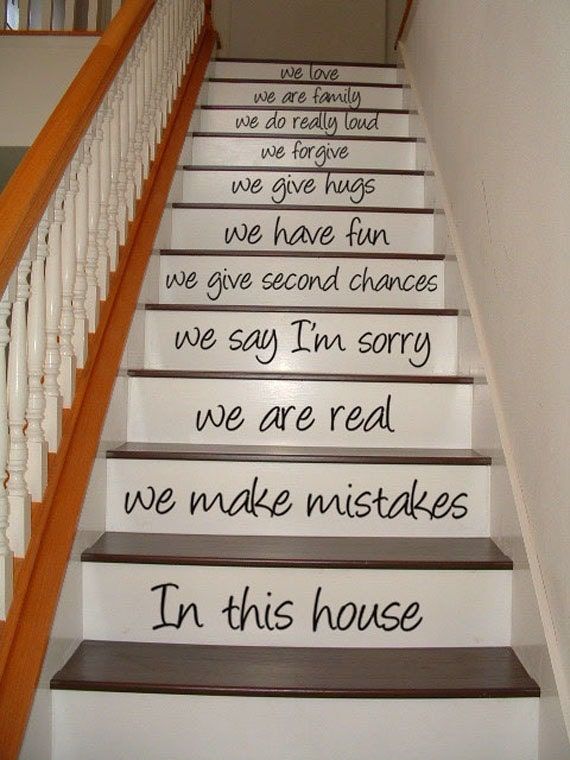 Wall Decal Stairway Decal In This House By Villagevinepress