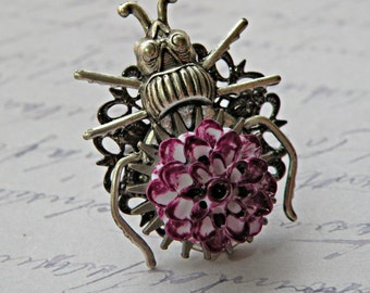 Beetle Bug Adjustable Ring