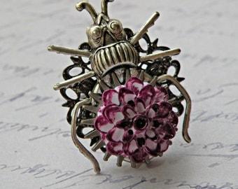 Beetle Bug Adjustable Ring