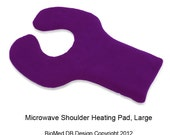Large Purple Microwave Shoulder Upper Back Heating Pad, Back Pain Therapy Wrap, Hot and Cold Pack, Washable Cover