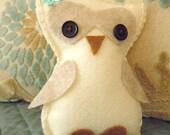 Little Girl Felt Owl Pillow Pal