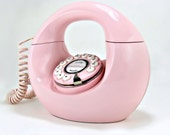 Retro Donut Phone in Cotton Candy Pink