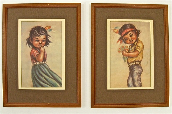 Vintage Navajo Boy and Girl Prints 2