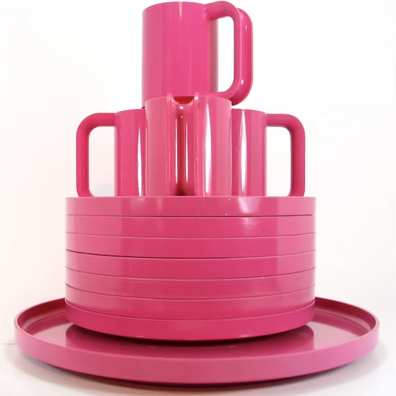 Pink Heller Tray Plates Mugs