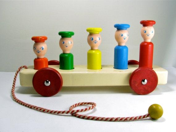 1950's Playskool Wooden Toy